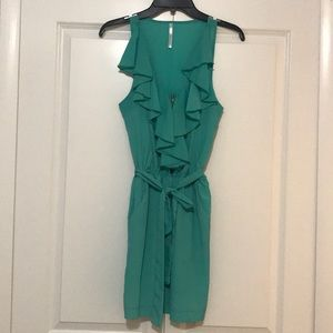 Aqua/dark mint summer dress